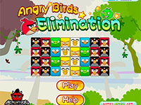 Игра Angry Birds Elimination играть онлайн