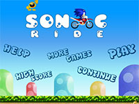 Игра Sonic the Hedgehod на мото