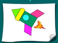 игра раскраска геометрические фигуры для детей играть